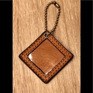 Coach brand New frame square key ring chain